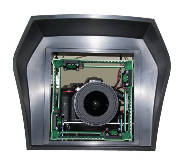 photo webcam with front window defroster heater